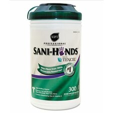 Professional Sani-Hands Ii Sanitizing Wipes, 300/Canister