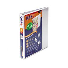 "Quick Fit D-Ring View Binder, 1"" Capacity"
