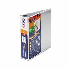 "Quick Fit D-Ring View Binder, 2"" Capacity"