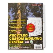 Index Dividers,Laser/Inkjet,Unpunched,5-Tab,25 Sets/PK,White