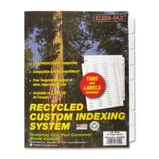 Custom Index Dividers (Pack of 25)