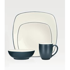 Colorwave Square 16 Piece Dinnerware Set