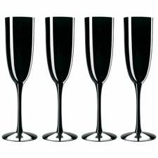 Palais Black 6 oz. Champagne Flutes (Set of 4)