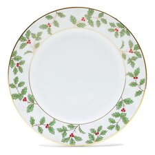 "Holly and Berry Gold 6.25"" Bread and Butter Plate"