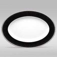 """Pearl Noir 16"""" Oval Platter"""