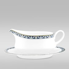 Pearl Majesty 13 oz. Gravy Boat with Saucer