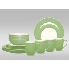 Colorwave 16 Piece Rim Place Setting
