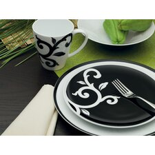 <strong>Noritake</strong> Kismet Black 4 Piece Place Setting