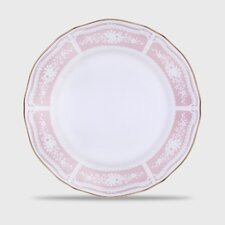 Lacewood Gold Pink Cake Plate