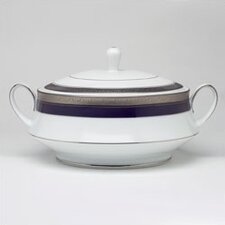 <strong>Noritake</strong> Crestwood Cobalt Platinum 48 oz. Covered Vegetable Dish