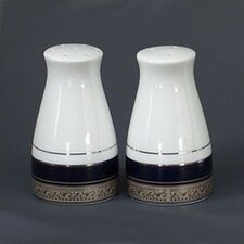 "<strong>Noritake</strong> Crestwood Cobalt Platinum 3.25"" Salt & Pepper Set"