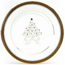 "Crestwood Gold 9"" Holiday Accent Plate (Set of 4)"