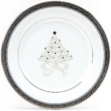 "Crestwood Platinum 9"" Holiday Accent Plate (Set of 4)"