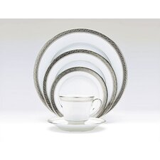 Crestwood Platinum 20 Piece Dinnerware Set