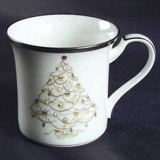 Palace Christmas Platinum Accent Mug (Set of 4)
