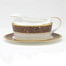 Xavier Gold 16 oz. Gravy Dish with Tray