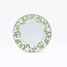"<strong>Noritake</strong> Holly and Berry Gold 6"" Saucer"