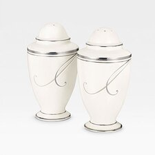 <strong>Noritake</strong> Platinum Wave Salt & Pepper Set