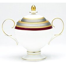 Ruby Coronet 9 oz. Sugar Bowl with Cover