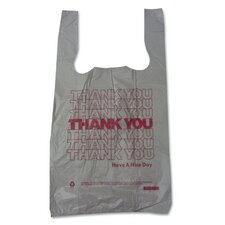 Plastic Thank You T-Sacks (Carton of 2,000)