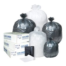 10 Gallon High Density Can Liner, 8 Micron in Clear