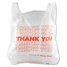 <strong>Inteplast Group</strong> T-Shirt Thank You Bag in White, 900/Case