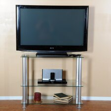 "<strong>RTA Home And Office</strong> Extra Tall Glass and Aluminum 35"" TV Stand"
