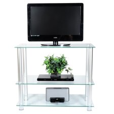 "Extra Tall Glass and Aluminum 42"" TV Stand"