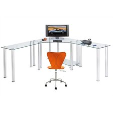 <strong>RTA Home And Office</strong> CT Computer/Laptop Desk Corner Computer Desk with Right and Left Extension Tables