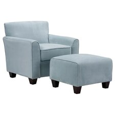 Livingston Arm Chair & Ottoman Set
