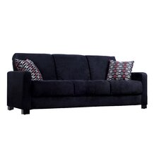 <strong>Handy Living</strong> Convert a Couch Full Sleeper Sofa with Geo Square Pillows