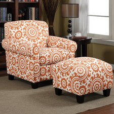<strong>Handy Living</strong> Winnetka Chair and Ottoman