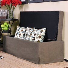 Skirted Bench Storage Ottoman in Green