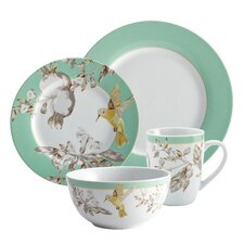Fruitful Nectar Porcelain 16-Piece Dinnerware Set