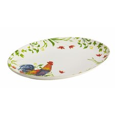 "Meadow Rooster 14"" Oval Platter"