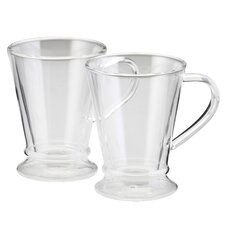 Insulated Glass 10 oz. Latte Cup (Set of 2)