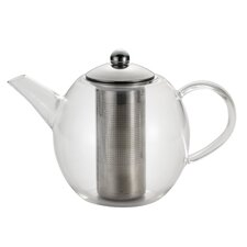 Round Glass Teapot with Shut-Off Infuser