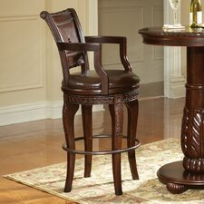 "<strong>Steve Silver Furniture</strong> Antoinette 30"" Swivel Bar Stool with Cushion"