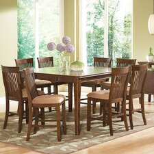 Montreal 9 Piece Counter Height Extendable Dining Set