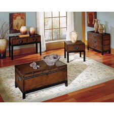 <strong>Steve Silver Furniture</strong> Voyage Trunk Coffee Table Set