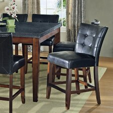 Granite Bello Counter Height Parsons Chair in Multi-Step Black