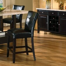 "<strong>Steve Silver Furniture</strong> Monarch 24"" Parsons Bar Stool with Cushion"