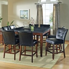<strong>Steve Silver Furniture</strong> Granite Bello 9 Piece Counter Height Dining Set
