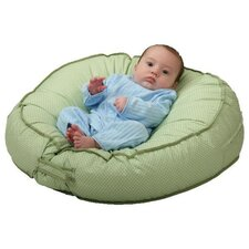 Podster Sling-Style Infant Lounger in Green Pin Dot