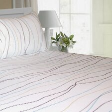 <strong>Tribeca Living</strong> Dot Printed Extra Deep Pocket Flannel Sheet Set