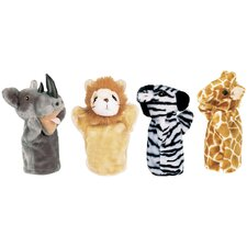 <strong>Get Ready Kids</strong> Zoo Puppet Set (Lion, Zebra, Giraffe, Rhino)