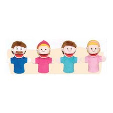 Family Bigmouth Puppets Caucasian