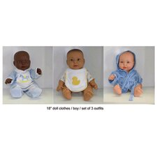Doll Clothes Boy Outfits (Set of 3)