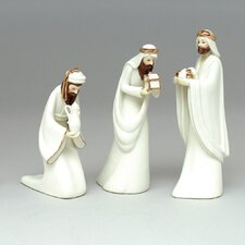 Porcelain 3 Piece Kings Figurine Set
