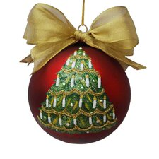 Sarabella Glass Christmas Tree Ornament with Candles Ball
